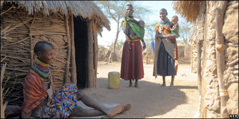 Village in Turkana, Kenya