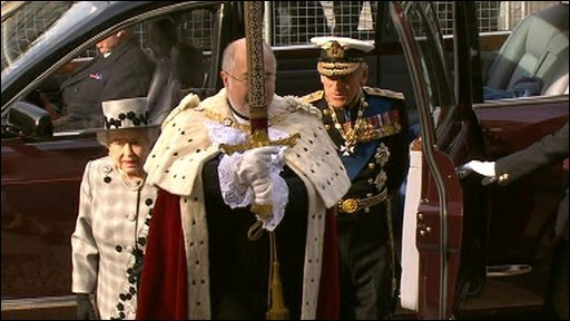 The Queen, Prince Phillip and Lord Maryor of London Alderman Ian Lauder