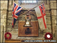 Royal Oak memorial in Kirkwall's St Magnus Cathedral