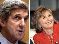 Senators John Kerry and Barbara Boxer