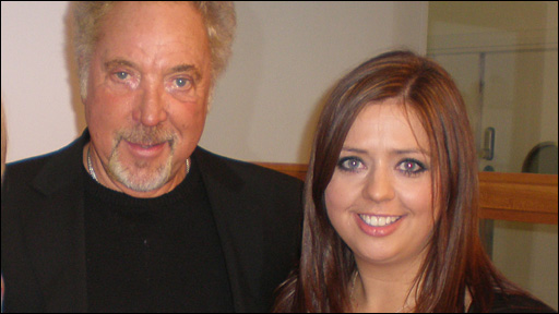 Tom Jones and Lisa Dorise