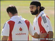Andrew Strauss and Monty Panesar