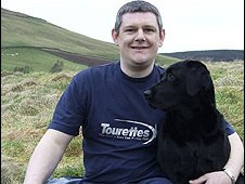 John Davidson with dog Tilly