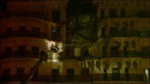 Grand Hotel bomb damage