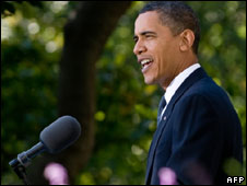 Barack Obama speaks at the White House, 9 Oct 2009