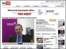 Tony Blair on YouTube