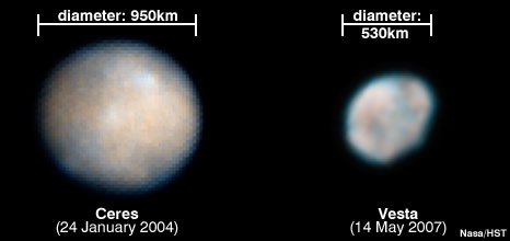 Ceres and Vesta (Nasa)