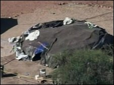 Aerial image of the sweat lodge