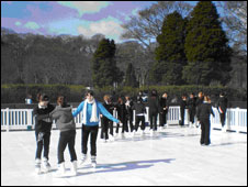 Outdoor ice rink