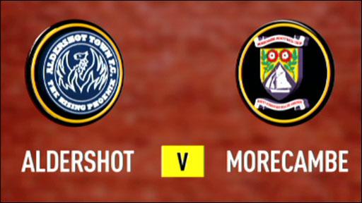 Aldershot 4-1 Morecambe