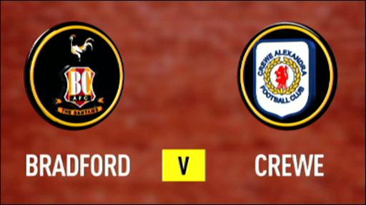 Bradford 2-3 Crewe