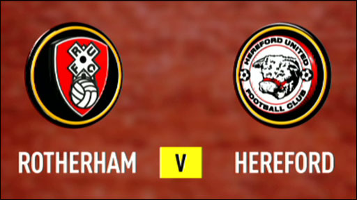 Rotherham 1-1 Hereford