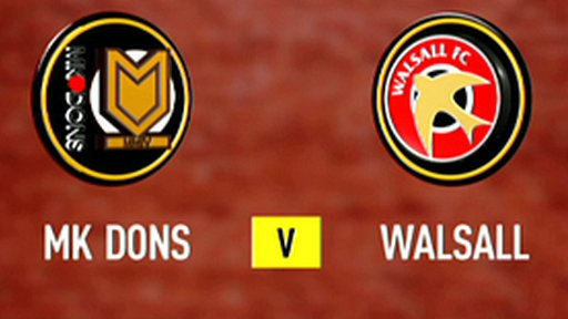 MK Dons 1-0 Walsall