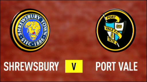 Shrewsbury 0-1 Port Vale