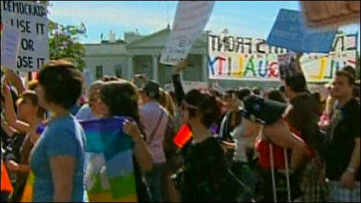 gay rights protest in Washington