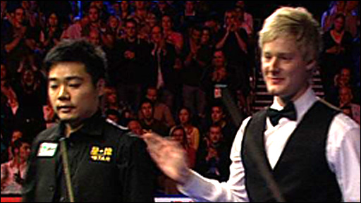 Ding Junhui and Neil Robertson