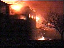 Tideway School on fire