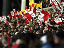 The flags were flying at Ravenhill on Friday night