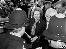Margaret Thatcher after the bomb