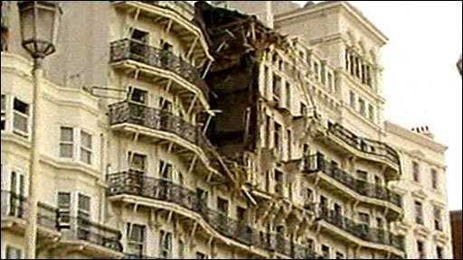 Damage to the Grand Hotel, Brighton