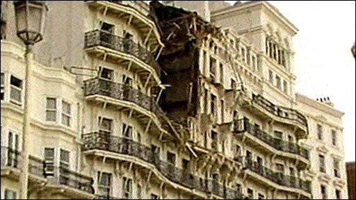 Damage to the Grand Hotel, Brighton