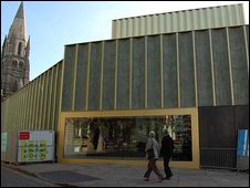 The front of the new Nottingham Contemporary building