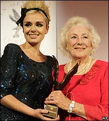 Dame Vera Lynn (right) with Katherine Jenkins
