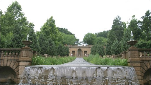 The fountain in Meridian Hill Park