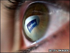 Facebook reflected in eye, Getty