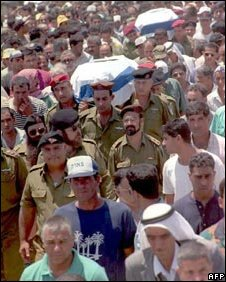 Funeral for members of the Heib Bedouin clan, killed in a Hezbollah ambush in Southern Lebanon in 1995