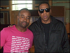 Lawrence Lartey (left) and Jay-Z