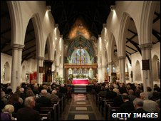 Memorial service at St Paul's Parish Church in Brighton