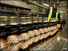 Newcastle Brown Ale bottles