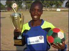HIV positive footballer Thandiwe Richard