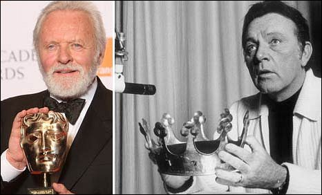 Sir Anthony Hopkins and Richard Burton