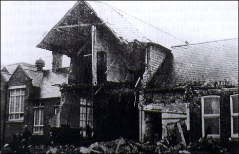The bombed-out Alfred Street School.