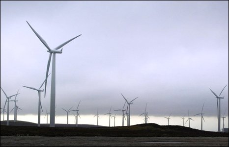Windfarm at Black Law in South Lanarkshire