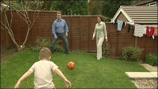 Smith family play football