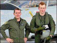 Captain Derek Furniss and Cadet David Jevens