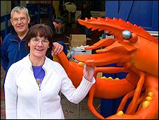 Tony Ship (left) and Hilary Thompson