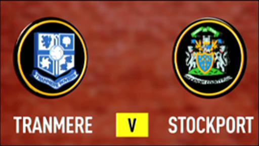 Tranmere 0-1 Stockport