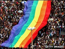 Gay marches, like this one in Brazil, are banned in Moscow