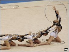 Russia team perform at 2009 Rhythmic Gymnastics World Championships