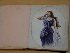 A painting from Florence's autograph book