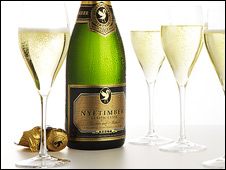 Nyetimber bottle and glasses