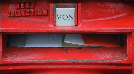 Overflowing post box