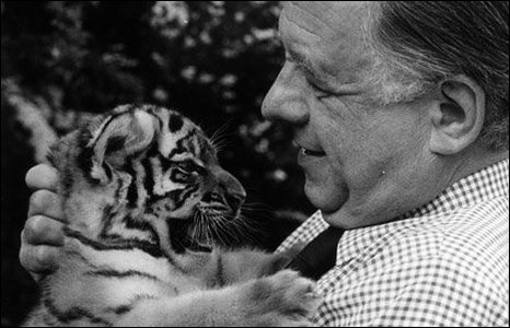John with Tig the tiger cub
