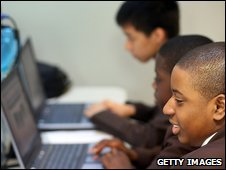 young people at computers
