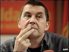 Leader of the banned Basque political party Batasuna, Arnaldo Otegi (file image)