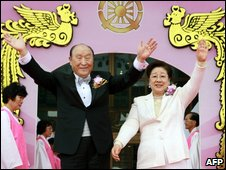 Rev Sun Myung Moon and his wife, 14 Oct
